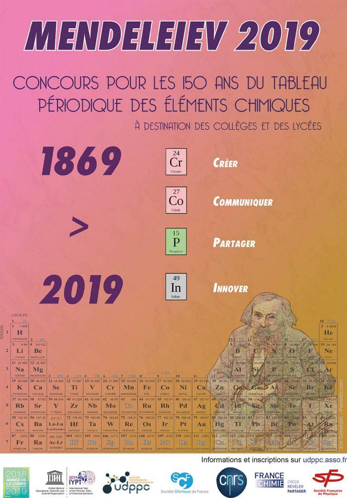 Affiche concours Mendeleïev 2019